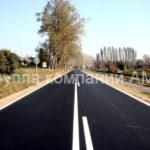 Разметка дороги прерывистой полосой