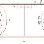 схема гандбольной разметки
