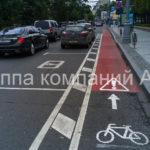Разметка велосипедных дорожек (4)