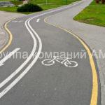 Разметка велосипедных дорожек (5)