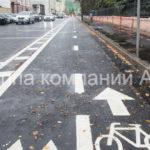 Разметка велосипедных дорожек (2)