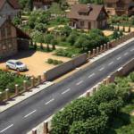 разметка коттеджных поселков